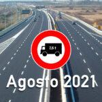 Blocco dei mezzi pesanti in agosto 2021