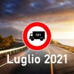 Divieto dei mezzi pesanti nel mese di luglio 2021